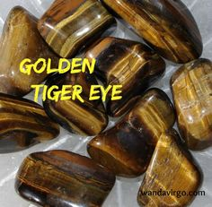 Golden Tiger Eye Grounds to the Earth and offers strength & vitality.  #golden #tigereye  www.wandavirgo.com