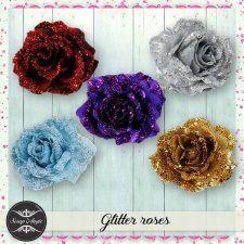 Elements - glitter roses - Scrap Angie #CUdigitals cudigitals.comcu commercialdigitalscrapscrapbookgraphics