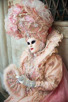 For more great pins go to Venice Carnival Costumes, Venetian Carnival Masks, Carnival Of Venice, Venetian Masquerade, Masquerade Ball, Venice Carnivale, Venice Mask, Larp, Mardi Gras