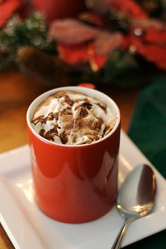 hot cocoa in the winter.