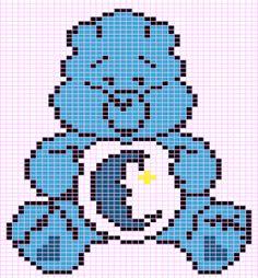 Luvs 2 Knit: Carebear-Bedtime Bear Chart Pattern By Luvs2knit