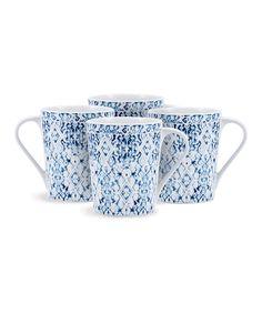 Look what I found on Tapis Mug - Set of Four by Bambeco Blue Hour, Mugs Set, Skater Dress, Invitations, Dresses, Design, Style, Vestidos, Swag