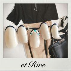 etRire☆earlysummer Frenchnails 大人のおしゃれフレンチネイル♡ HP:http://www.etrire.jp ◆ネイルサロンエリール◆ ご予約☎︎03-3470-1184 #nail#nails#nailart#etrire#manicurist#makifujiwara#naildesign#nailsalon#beauty#fashion#frenchnails#navynails#etrirenail#ネイルケア#ジェル#ジェルネイル#ネイル#ネ�