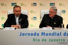 first press conference for Fr. Lombardi (press officer) in Rio de Janeiro