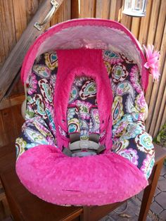 Rocco Paisley Infant Car Seat Cover With Hot by sewcuteinaz, $65.00