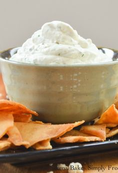 An easy to make Greek Feta Dip perfect  to go with Pita chips and Fresh Vegetables.