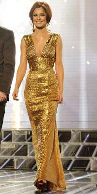 Cheryl Cole Gold Maxi on X Factor