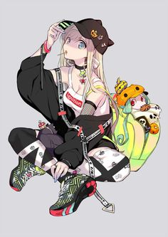 Z/X-Zillions_of_enemy_X-, z/x / Happy Birthday Ayase / October 2019 - pixiv Blonde Anime Girl, Manga Anime Girl, Anime Girl Drawings, Anime Oc, Anime Angel, Anime Neko, Kawaii Anime Girl, Blue Anime, Dark Anime Girl