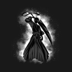 Check out this awesome 'Shadow+of+Ichigo' design on Ichigo Et Rukia, Bleach Anime Art, Aesthetic Art, White Aesthetic, Neon Glow, Akatsuki, Studio Ghibli, Naruto Shippuden, Art Projects