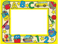 there are six simple words that you can use Preschool Name Tags, Toddler Preschool, Powerpoint Background Design, Poster Background Design, Borders For Paper, Borders And Frames, Preschool Procedures, School Border, School Labels