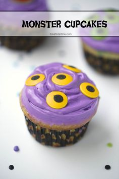 Monster cupcakes #Halloween #desserts