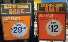 Awkward Back 2 School Deals that totally got the wrong idea!