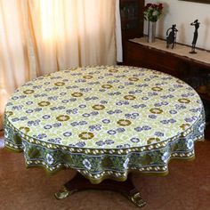 Indian Round Tablecloth 177 Summer Decor Home Floral Cotton by ShalinCraft, http://www.amazon.co.uk/dp/B00BJYPUHE/ref=cm_sw_r_pi_dp_Rinzsb14BEFST