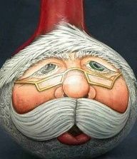 santa gourd ornaments - Google Search