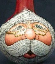 santa gourd ornaments - Google Search