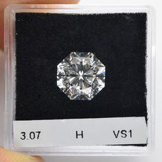 carat, H Diamond, Octagon Shape, Clarity, SKU 274822 Diamond Shaped Engagement Ring, Engagement Ring Shapes, Engagement Rings, Emerald Earrings, Stud Earrings, Diamond Shapes, Earrings Handmade, Clarity, Diamond Jewelry