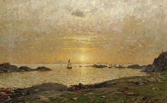 Sunset Over the Bay Adelsteen Normann