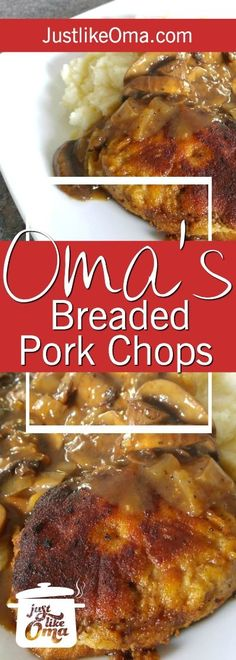 ❤️Breaded Pork Chops Recipe, German-style and made just like Oma! Among one of the tastiest and quickest meal ideas! Pork Chop Recipes, Ground Beef Recipes, Meat Recipes, Paleo Recipes, Cooking Recipes, Spinach Recipes, Polish Recipes, Cooking Tips, Thin Pork Chops