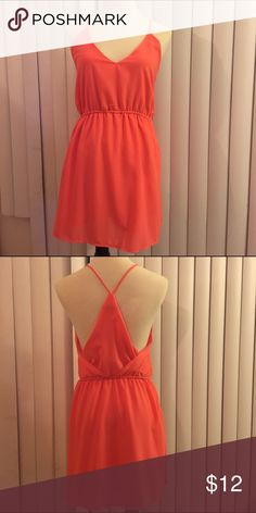 Right Coral Pocket Mini Dress Fully lined slip dress, very cute and sexy back detail, side pockets, double as a coverup! Dresses Mini