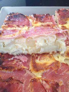 Quiche sans pâte bacon, pomme de terre et oignons WW