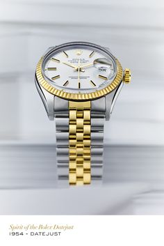 The Datejust was the first wristwatch to display the date through an aperture on the dial. #RolexOfficial #Rolex