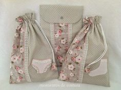 Sewing moments: Set of cloth bags