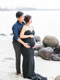 Marsala and Monochrome: A Maternity Shoot