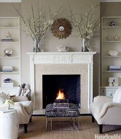 Wondrous Unique Ideas: Fireplace And Mantels How To Decorate fireplace makeover wood planks.Fake Fireplace Shiplap fireplace and mantels how to decorate.Fireplace And Mantels How To Decorate. Fireplace Seating, Cozy Fireplace, Living Room With Fireplace, Fireplace Surrounds, Fireplace Design, Fireplace Mantels, My Living Room, Living Room Furniture, Living Room Decor