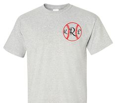 Monogram Baseball Shirt Adult T-Shirt Adult by VinylDezignz