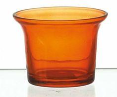 Villaverde® 1 Teelichtglas Topfform ø6,5cm dark orange