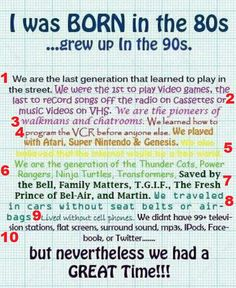 GeekishlyApropos: I was born in the 80s... grew up in the 90s. A break down of LIES!