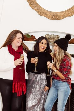The Everygirl's Holiday Capsule Wardrobe Work Party, Jeans And Sneakers, Festival Outfits, Holiday Dresses, Girls Night Out, Christmas Shopping, Capsule Wardrobe, New Dress, What To Wear