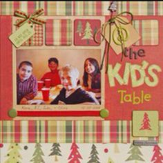 kid scrapbook layouts | Via Suzie Good