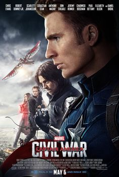 'Captain America: Civil War' is quickly approaching. New footage gives us a close look at each character on both sides: Team Captain America and Team Iron Man. Captain America Poster, Captain America Civil War, Poster Marvel, Marvel Movie Posters, Civil War Movies, Men In Black, Team Cap, The Avengers, Hawkeye