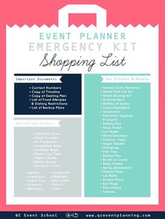 Event Planner Emergency Kit Infographic (scheduled via http://www.tailwindapp.com?utm_source=pinterest&utm_medium=twpin&utm_content=post55844074&utm_campaign=scheduler_attribution)