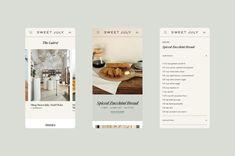 Sweet July – Saturday Studio Bread Shop, Bread Ingredients, Custom Website, Chocolate Cups, Latest Recipe, Zucchini Bread, Sugar And Spice, Sweet, Website Layout