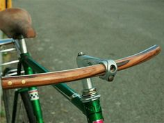 F Wooden Handlebars  $70-$110  Buy   Hat Tip   Dress up your bicycle with one of F's gorgeous handcrafted handlebars, made from exotic hardwoods. Each one is fitted with an aluminum center for added strength and durability.