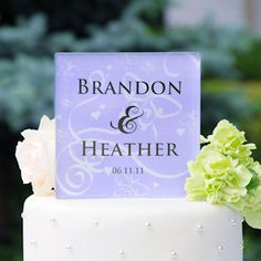 Personalized Butterfly Wedding Cake Topper (17 Colors) from Wedding Favors Unlimited