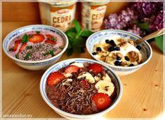 Acai Bowl, Healthy Recipes, Healthy Food, Deserts, Snacks, Vegan, Cooking, Breakfast, Smoothie