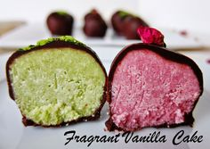 Fragrant Vanilla Cake: Raw Matcha and Rose Marzipan Truffles for Mother's Day