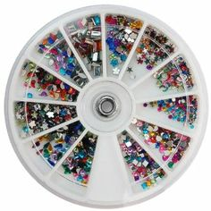 1200 pcs rhinestone nail art & 12 type shape by HongNuo. $5.00. 1) Brand new in retail pakcage  2) 1200pcs 12 Shape Nail Art Deco Rhinestones and Glitter Sheet  3) Perfect for natural nails, false nails and 3D nail art Suitable for both professional, nail salon, wholesale, and personal use  4) Retail Package with wheel, easy to carry and ready for use!!  5) Create your own pattern and add shiny colors to our nail art!!  Suitable to use on top of nail polish, UV builder gel, ...