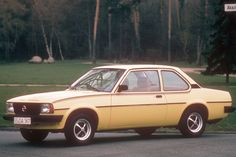 "#2 Opel Ascona B 2.0 S -80. My car was red 2-door with white 13"" Mangels ""alloy"" wheels and 205/70 ""low profile"" tyres... :-D"