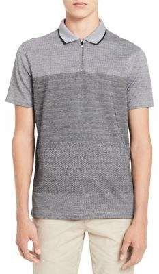 Calvin Klein Ombre Jacquard Cotton Polo