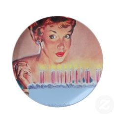 Retro 1950s Birthday Party Plates