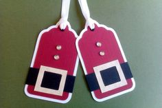 Santa Christmas Tags...ok need to find punches or dies to make these...hmm Cricut?