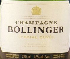 """NV Bollinger Champagne Special Cuvée Brut  Blend of 60% Pinot Noir, 25% Chardonnay, 15% Pinot Meunier. Golden yellow with fine bubbles. Aromas of apples and citrus fruits. Fairly high dosage for our palates, but a simple sip to start the evening, we think this is a """"fun"""" shampoo. (89 points)"""
