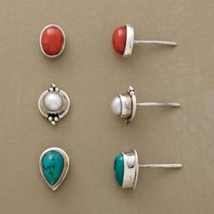 LAND AND SEA EARRING TRIO