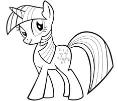 my little pony twilight sparkle coloring pages - Coloring Book Kids