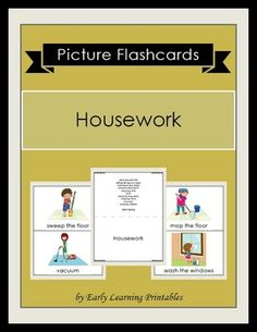 Click here to download your Housework Picture Flashcards: $2.85