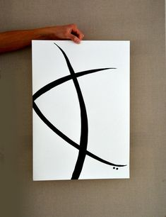 Minimal Ink Abstract Art Painting on paper  Linear art by ComArt